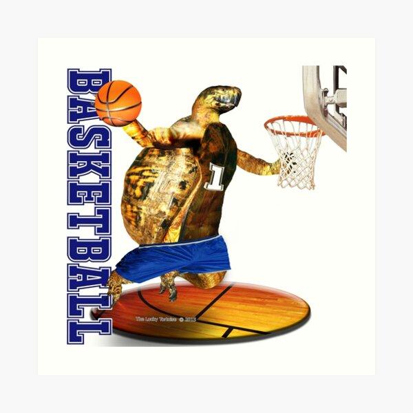 Turtle Basketball Player Art Print