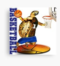 Turtle Basketball Player Canvas Print