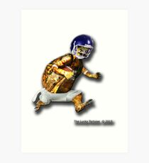 Turtle Football Player Art Print