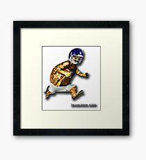 Turtle Football Player Framed Print
