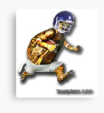 Turtle Football Player Metal Print