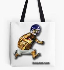 Turtle Football Player Tote Bag