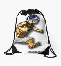 Turtle Football Player Drawstring Bag