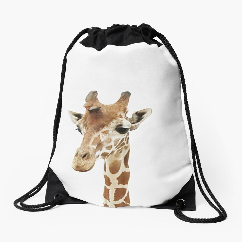 Baby Giraffe, Nursery, Animal, Kids room, Modern art, Wall decor Drawstring Bag