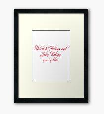 Johnlock | Love Framed Print