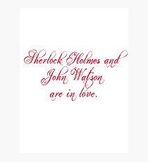 Johnlock   Love Photographic Print
