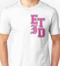 Varsity Letters (Pink in Black) Unisex T-Shirt