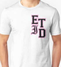 Varsity Letters (Black in Pink) T-Shirt