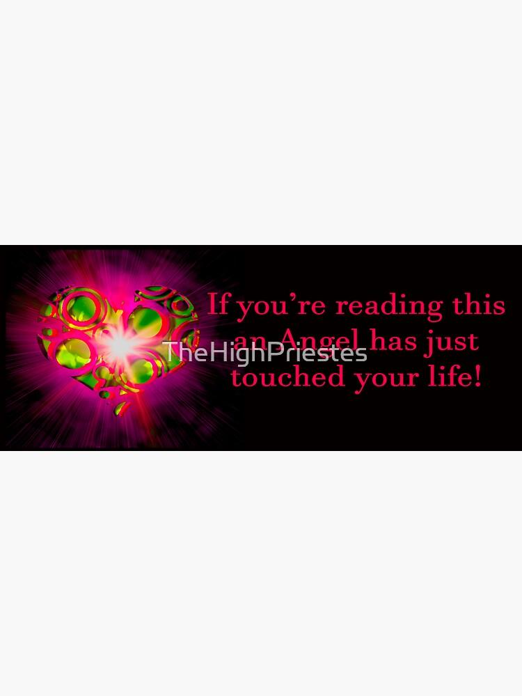 Angel Message Bumper Sticker by TheHighPriestes