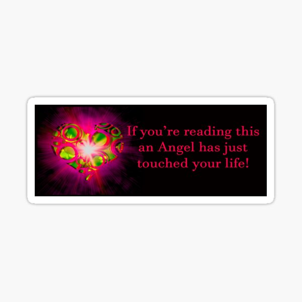 Angel Message Bumper Sticker Sticker