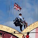 British Flag seen in London by Remo Kurka