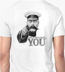 World War One, Lord Kitchener, WW1, Your Country needs you! Recruitment Poster Unisex T-Shirt