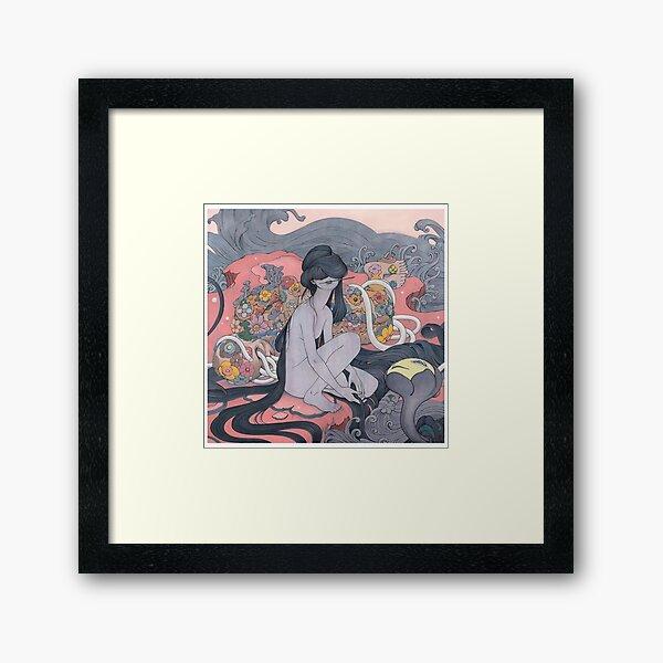 the angel Framed Art Print
