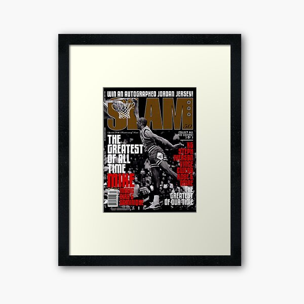 Michael Jordan dunk | cover slam magazine Framed Art Print