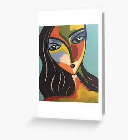 Lovely lady Greeting Card