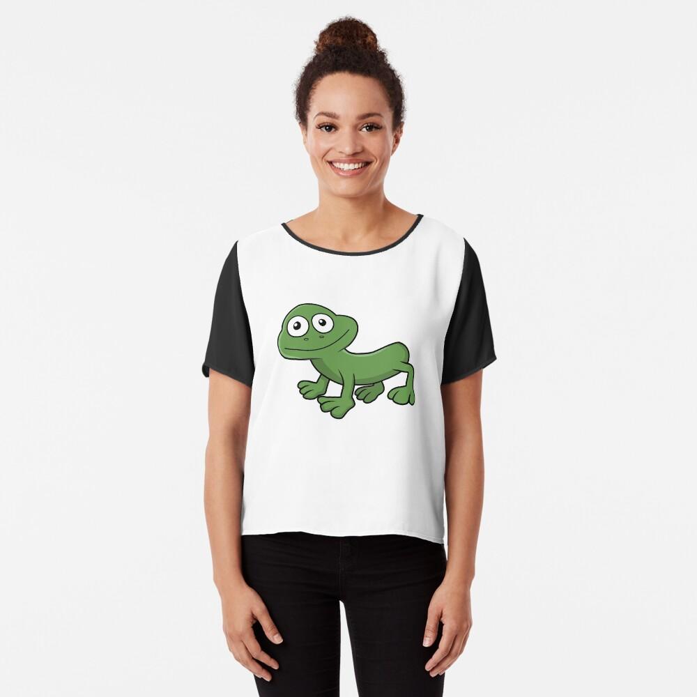 Sausage Frog Chiffon Top