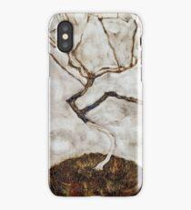 Egon Schiele - Small Tree in Late Autumn 1911  Expressionism Landscape iPhone Case/Skin