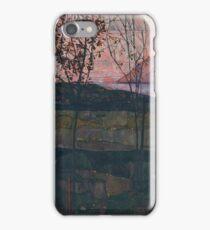 Egon Schiele - Setting Sun 1913  Expressionism Landscape iPhone Case/Skin