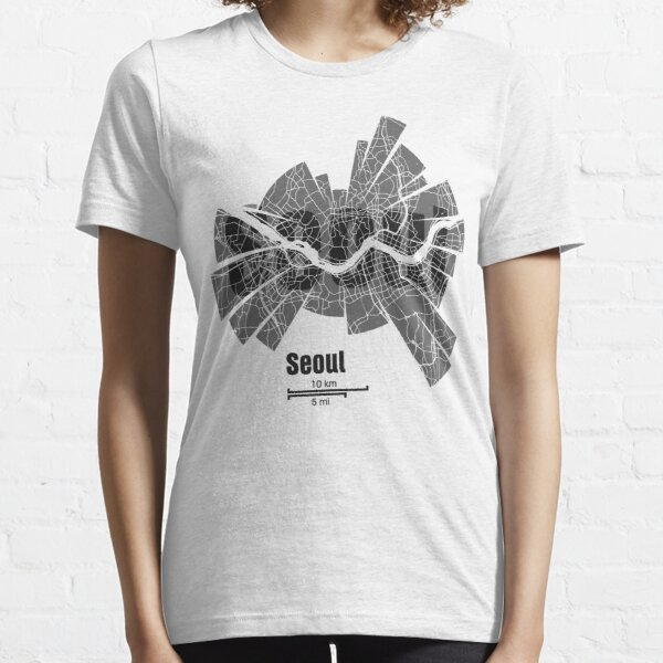 Seúl Mapa Camiseta esencial