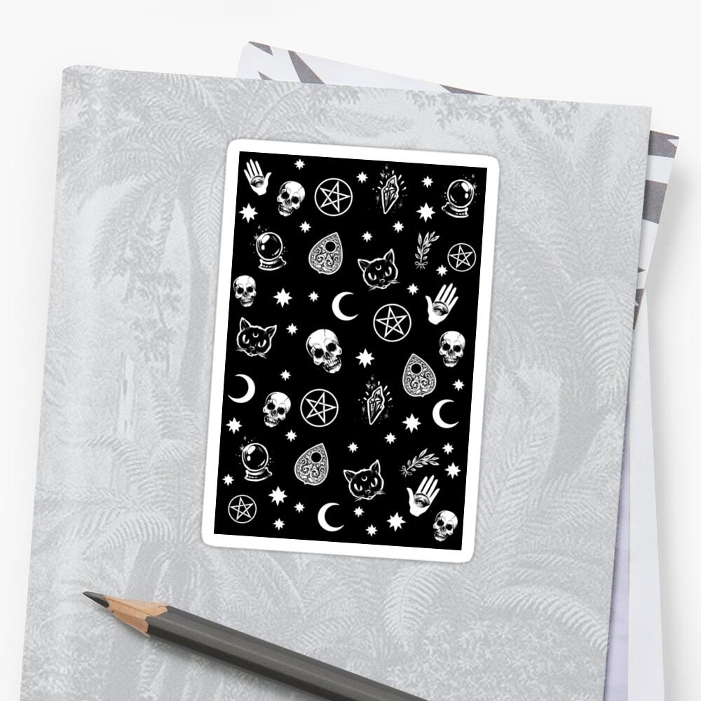 Witch Pattern Sticker