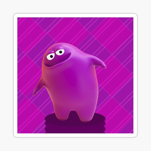Cute pink monster Sticker