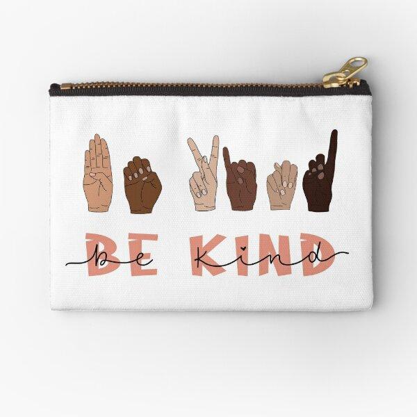 Be Kind Sign Language Zipper Pouch