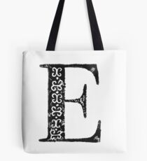 Serif Stamp Type - Letter E Tote Bag