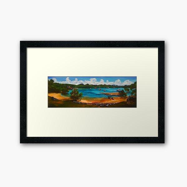 Bustard Bay - low tide Framed Art Print