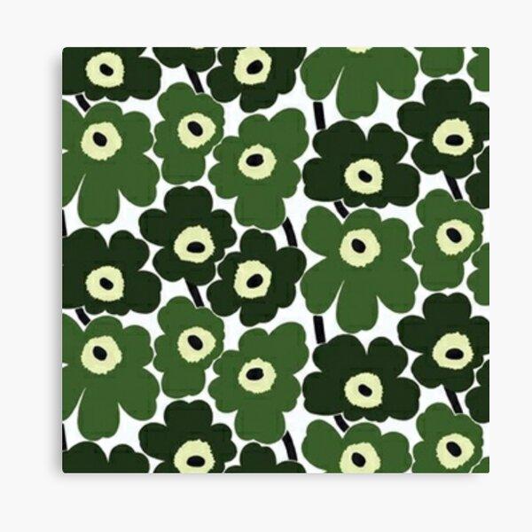 green marimekko Canvas Print