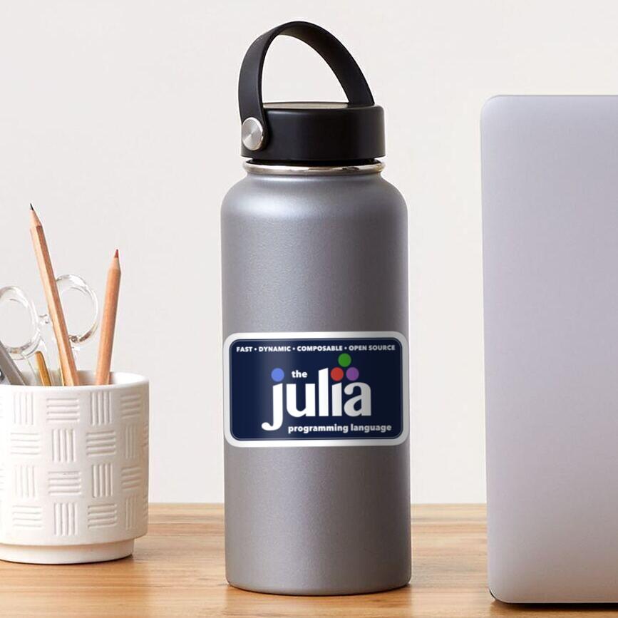 The Julia Programming Language Logo Sticker