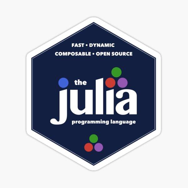 The Julia Programming Language Hex Logo Sticker