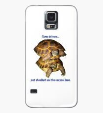 Tortoises - Some people shouldn't use the car pool lane Case/Skin for Samsung Galaxy