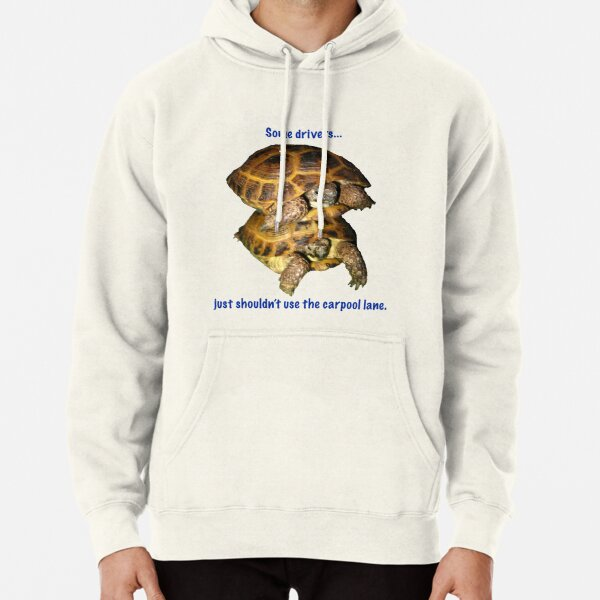 Tortoises - Some people shouldn't use the car pool lane Pullover Hoodie