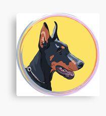 Dog Doberman Pinscher Canvas Print