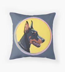 Dog Doberman Pinscher Throw Pillow
