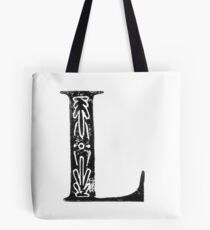 Serif Stamp Type - Letter L Tote Bag