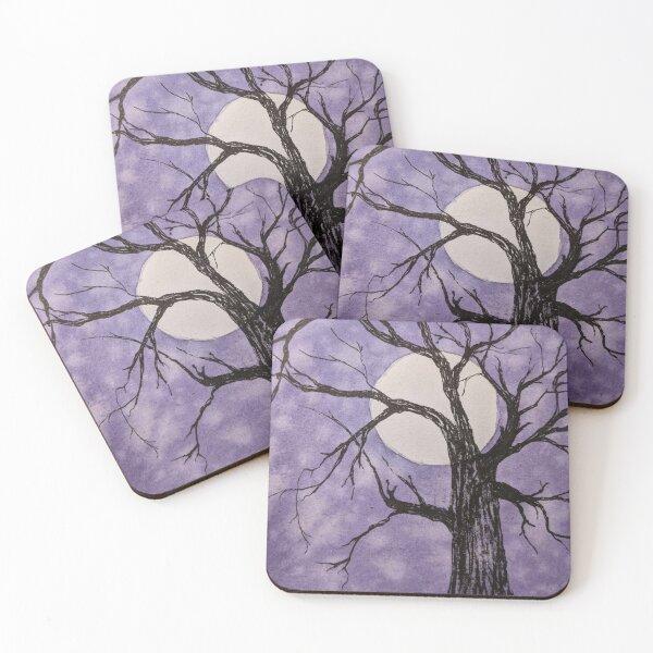 Moonlight Trees III Coasters (Set of 4)