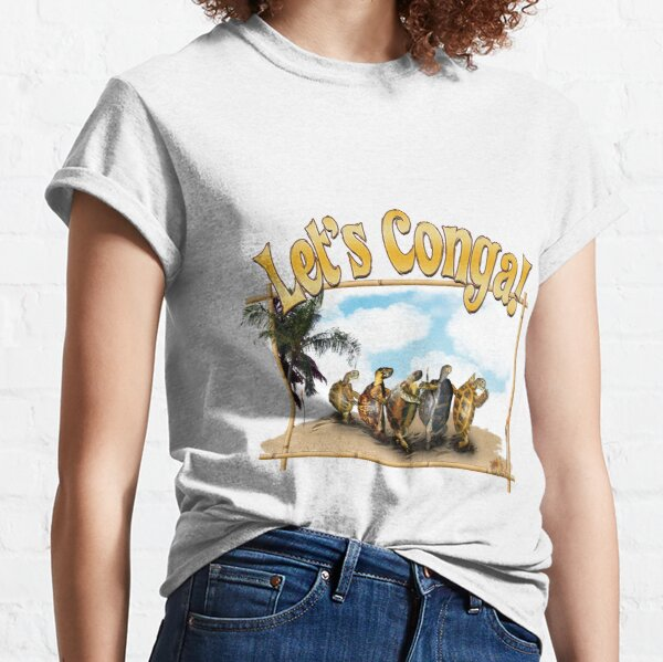 Tortoises and Turtles Conga Dancing on the Beach Classic T-Shirt