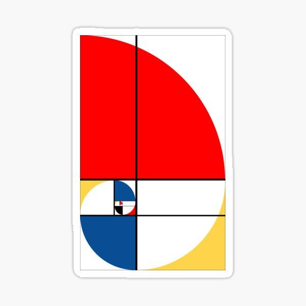 Color Fibonacci Spiral Sticker