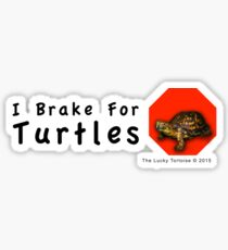 I Brake for Turtles Sticker