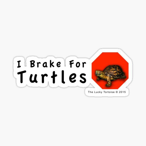 I Brake for Turtles Sticker
