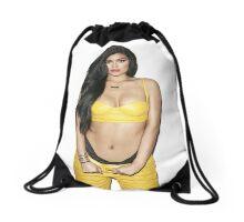 kylie jenner hot Drawstring Bag
