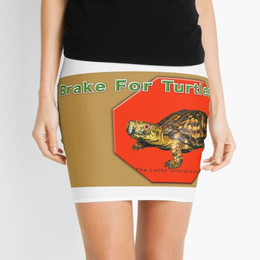 I Brake for Turtles Mini Skirt