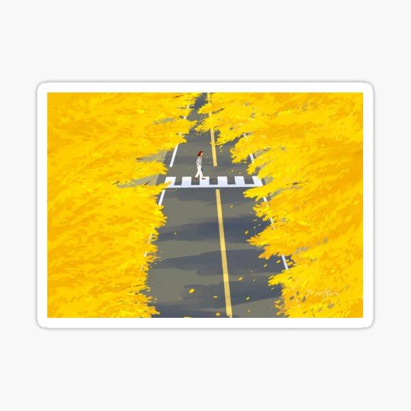 yellow romance Sticker