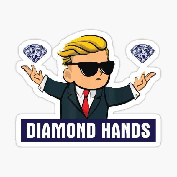 Wallstreetbets diamond hands - WSB Stock Market Options Sticker