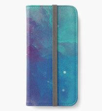 Night sky [watercolor] iPhone Wallet