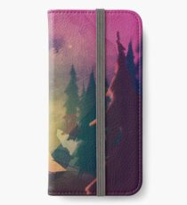 Night in the forest [watercolor] iPhone Wallet