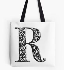 Serif Stamp Type - Letter R Tote Bag