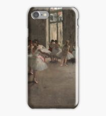 Edgar Degas - The Rehearsal ,Impressionism  ballerina dancer iPhone Case/Skin