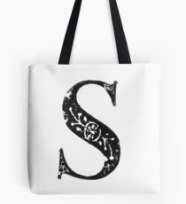 Serif Stamp Type - Letter S Tote Bag